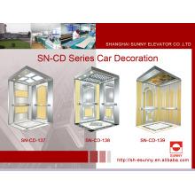 Cabina del elevador con el panel del espejo (SN-CD-137)