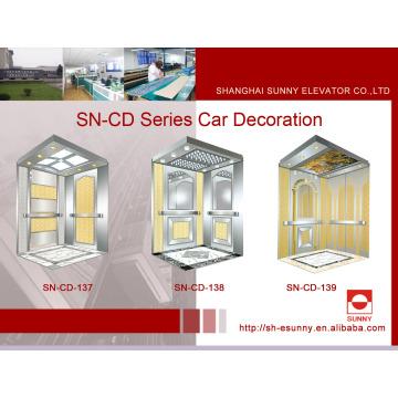 Aufzugskabine mit Spiegelplatte (SN-CD-137)