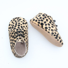 Mo Hair Leopard Miękka podeszwa Baby Oxford Shoes