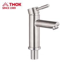 SS 304 Sanitaires robinet unique poignée royale pour la salle de bain, robinets de lavabo, robinet de lavabo