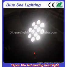 12pcs 10w RGBW 4in1 moving head led beam