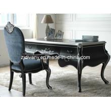 Escritorio de oficina escritorio de casa de madera de estilo neoclásico (2402)
