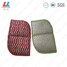 Waves style cleaning dishes sponge cloth
