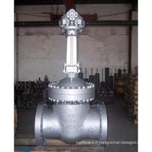 Vanne à vantaux à l'extrémité en acier moulé à gros diamètres