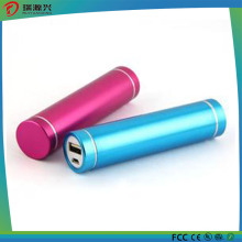 Cylinder Shape Metal Power Bank Charger 2500mAh