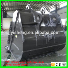 Q345B NM400 Case CX300 CX350 CX330 CX290 Excavator HD rock bucket 1.8 cube
