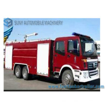 Foton 12m3 6 * 4 Water and Foam Tank Fire Fighting Truck