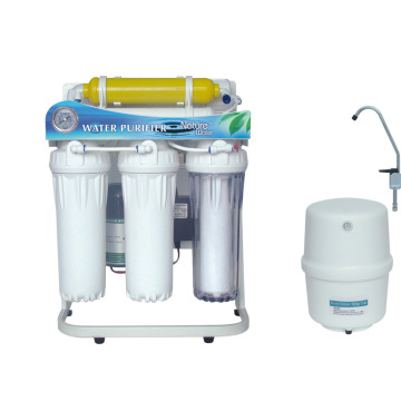 6 Stage Reverse Osmosis Water Purifier System with Frame