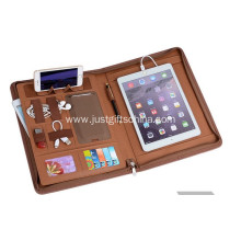 Promotional Leather Portfolio With Powerbank