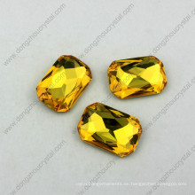 18X25mm Octagon Crystal Fancy Stone Point Back Rhinestones Todos los colores disponibles