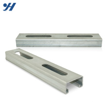 Hot Sale Construction Material Zinc Galvanized Steel Hot Dipped Galvanized Unistrut Channel