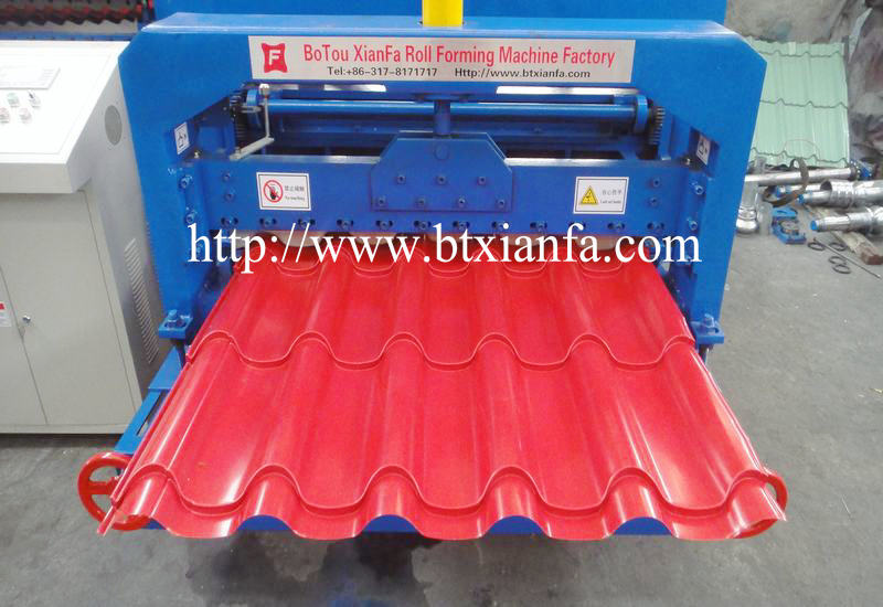 glazed tile panel roof machine 3
