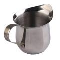 Taza de café de leche de acero inoxidable con mango