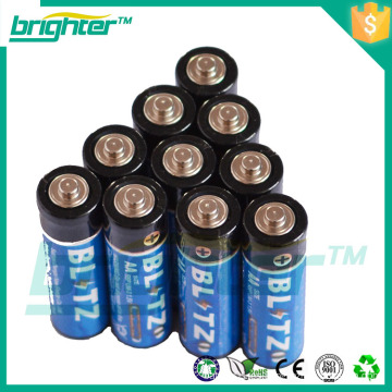 Batería alcalina AA de carbono de mejor precio