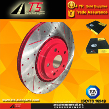 Red coating anti-rust brake rotor rust proof