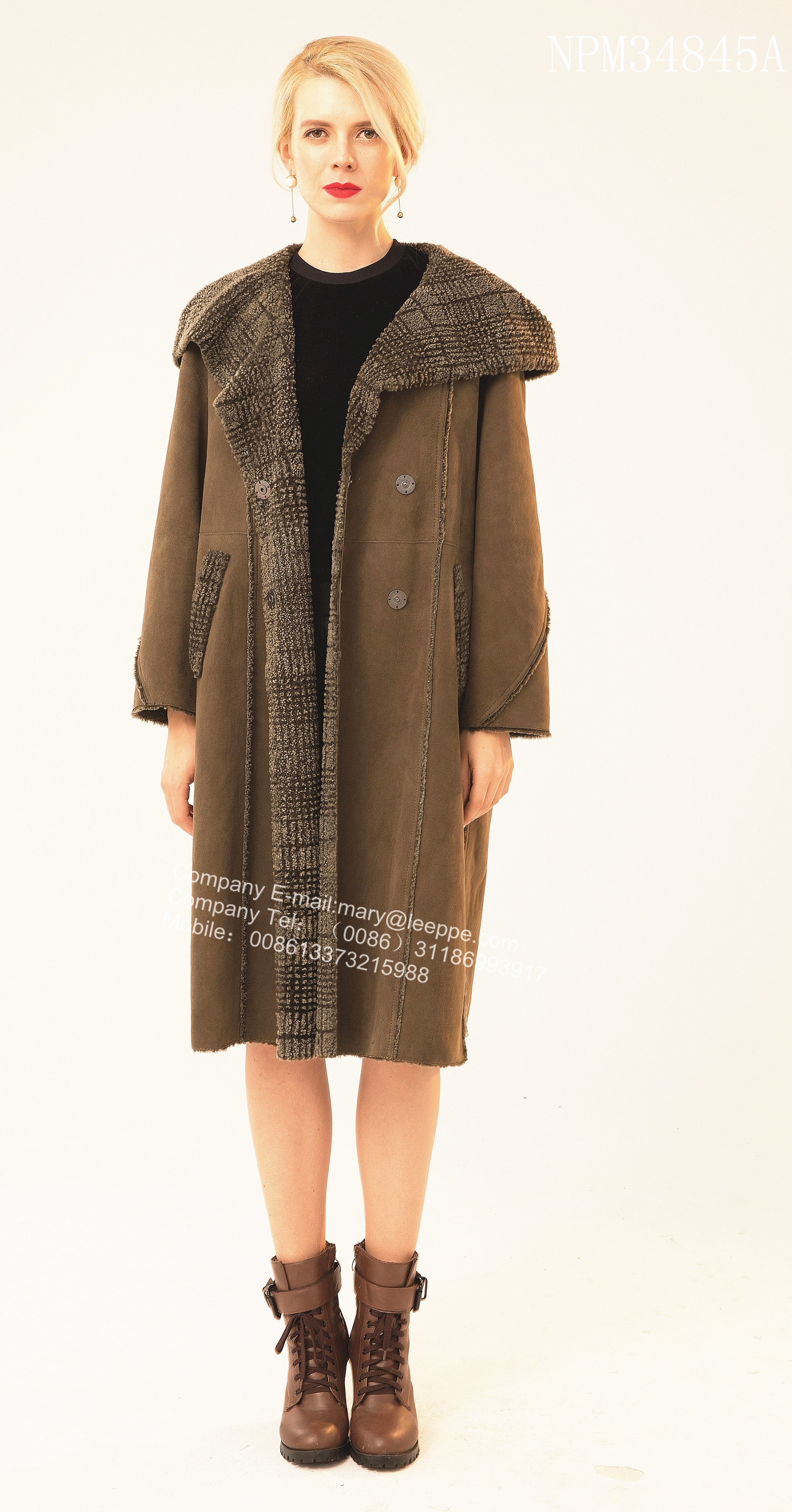 Reversible Long Australia Merino Shearling Coat
