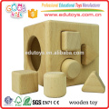 4 Hole Intelligent Wooden Cube Toy for Shape Sorter Cognitive and Matching
