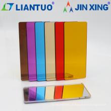Folhas de acrílico de PMMA de espelho flexível de 1220x2440mm