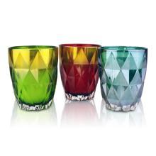 Bougies en verre de cire de soja parfumées de couleur personnalisée