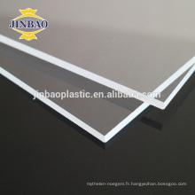 JINBAO blanc noir moulé pmma perspex qualité supérieure usine de panneau acrylique