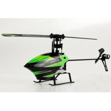 V955 2,4 GHz 4 canales Flybarless mini RC Helicóptero con tres ejes de control remoto Gyro