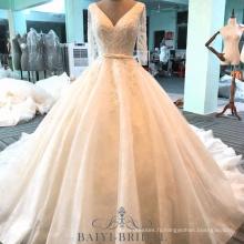 Alibaba brodé perlé mère de la robe de mariée robe de mariée