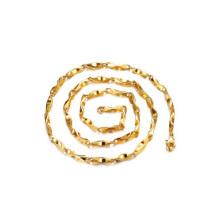 Colares de corrente fina para homens, jóias de colar de corrente de cobre exclusivo