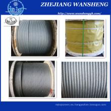 Cuerda de alambre de acero galvanizado 7 / 0.33mm 1 * 7 1.0mm