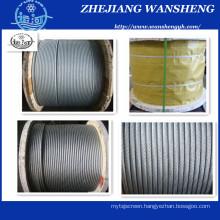 Zinc Coated Steel Wire Strand 1X7 1X19 1X37