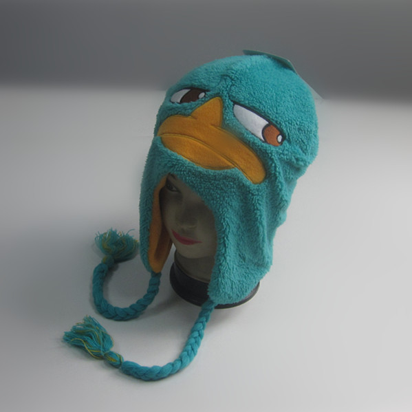 Children Duck Plush Winter Hat