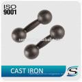 Black paint cast iron grip dumbbells