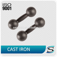 Black paint cast iron grip dumbbells