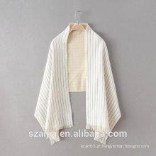 As senhoras novas da forma listram o lenço longo acrílico do pashmina do inverno