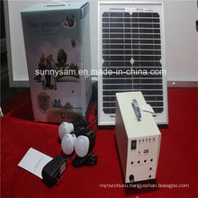 Potable Mini Solar Power Lighting System for Home Use
