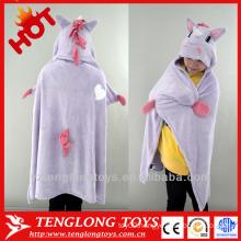 cute animal design polar fleece toy blanket