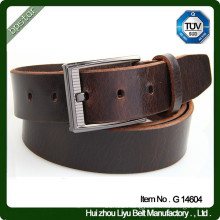 Plain Pin Buckle 100% Real Leather Full Grain Cowhide Leather Belts for Men