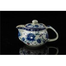 Pote de chá de cerâmica de tamanho pequeno peônia com inserto inoxidável