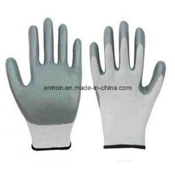 13G Polyester Nitrile Palm Coating Glove