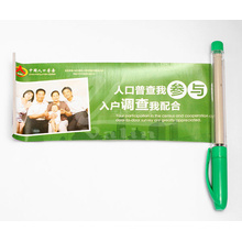 Stylo en plastique promotionnel de retirer le stylo de bannière