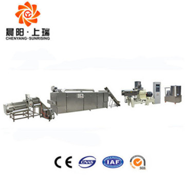 Automatic double screw extruder bread crumbs machine
