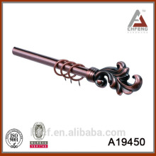 new resin finial for curtain rod/antique copper curtain pole/double metal curtain rod matching 19/28mm end caps