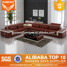 2017 mais recente projeto sofá da sala de estar, sofá marrom e branco projetos com preço barato
