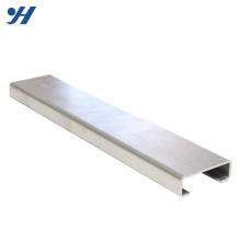 JIS Standard Structural Steel Chine Fournisseur poinçonné en acier à canal C