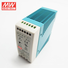 Única saída 12V da fonte de alimentação do trilho 40W do ruído do único MW 3.33A UL CUL TUV CB CE MDR-40-12