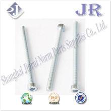 Parafusos de cabeça hexagonal com parafusos zincados TS16949 ISO9001