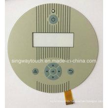 Ocho botones en relieve, doble FPC con soldadura El LED