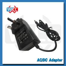 BS CE Wall plug 24W 12v 2a Adaptador de alimentação CA para o Reino Unido