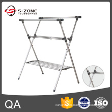 SZL004 High quality folding clothes rack, metal clothes rack