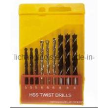 9PCS HSS Twist Drill Bit Set mit Kunststoffpaket