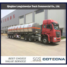 Hot Aluminium Material 42000L Oil Tank Semi Trailer